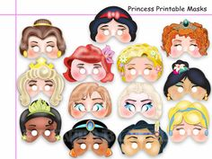 This listing is for (13 pdf patterns) Unique Disney Princess Printable Masks Collection-best choice birthday, decoration party, photo props or
