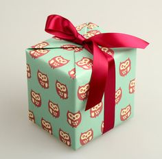 Pattern wrapping paper 10 set - owl