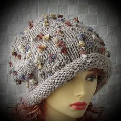 Chunky Knit Hat  Super Slouchy Beanie Big Slouch by AlbadoFashion