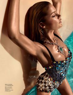 Doutzen Kroes Wears Sexy Swimwear for Vogue Chinas June Issue