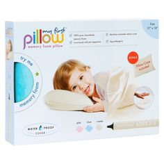 My First Pillow Memory Foam Toddler Pillow with Free Pillowcase