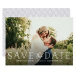 Wedding Save the Date Photo Announcement Card #weddinginspiration #wedding #weddinginvitions #weddingideas #bride