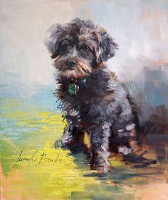 Custom Pet Portrait Oil Painting by Artist Jennifer Brandon - Fine Art Watercolor Animals, Watercolor Art, Dog Portraits, Painting Portraits, Portrait Art, Dog Illustration, Dog Names, Animal Paintings, Dog Art