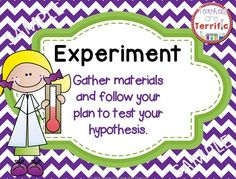 Scientific Method posters, Word Wall Strips, and Graphic Organizer for experiments! #scientificmethod #posters