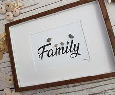Pebble Art Family Framed Picture Kitchen Living Room