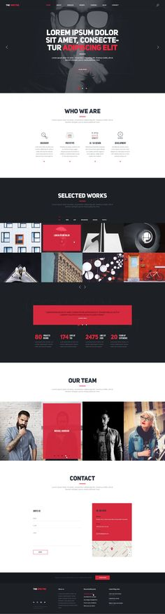 The Spectre Best Responsive Agency and Business Sketch Templates Download #webdesign #sketchtemplate