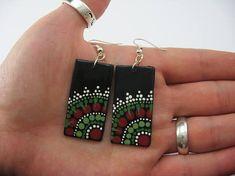 Mandala Earrings Polymer Clay Jewelry Clay Earrings Fimo