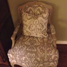 Reupholstered chair #ReupholsterChair