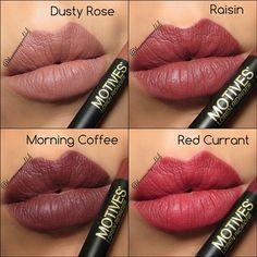 Amazing lip looks for fall using Motives lip crayons