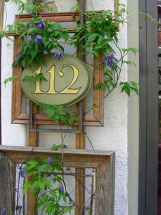 DIY Address Display: HGTV's (Almost) Free Outdoor Updates >> http://www.hgtv.com/landscaping/almost-free-outdoor-updates/pictures/page-15.html?soc=pinterest