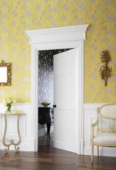 Charming Yellow Hallway