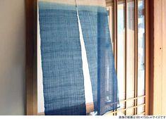 暖簾(のれん) 藍染 麻 86×90cm【日本製】