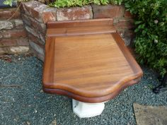 Antique Mahogany High Level Throne Toilet Seat with Lid – DragonQuarry Antiques & Restoration