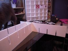 Make your own small storage cabinet with foam board. Full tutorial included.: