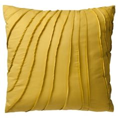 Got these for the living room... Threshold™ Pleats Decorative Pillow - Yellow