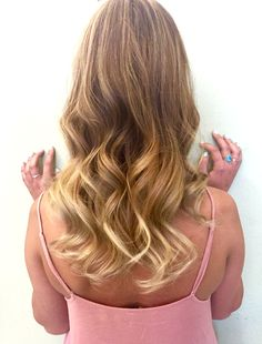 summer balayage with all over highlights #summer #blonde #balayage #highlights #sunkissed
