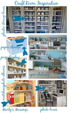 Craft Room Inspiration on a Small Budget [Tutorial] : via Marty's Musings