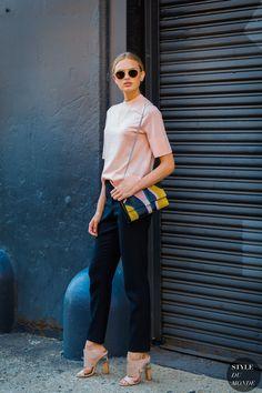 New York SS 2017 Street Style: Romee Strijd