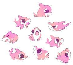 Kawaii 🌺 auf We Heart It -. Kawaii Drawings, Cute Drawings, Cute Animal Drawings Kawaii, Chibi, Cute Shark, Dibujos Cute, Kawaii Art, Cute Creatures, Creature Design
