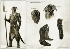 Mirkwood palace guard - armour components The Hobbit, part II - The Art of Nick Keller