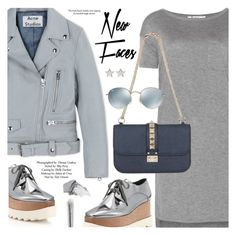 """Street Style"" by pokadoll ❤ liked on Polyvore featuring Acne Studios, T By Alexander Wang, STELLA McCARTNEY, Topshop, Urban Decay, Givenchy, Valentino, Ray-Ban, polyvoreeditorial and polyvorefashion"