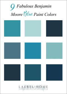 9 gorgeous shades of Benjamin Moore blue paint colors