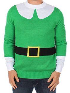 Tipsy Elves Hässlicher Weihnachtspullover - Elf mich Pullover (L) Grün Tipsy Elves http://www.amazon.de/dp/B005RG7V1I/ref=cm_sw_r_pi_dp_Nmotwb0TVRFXT