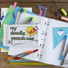 eatsleepdoodle customisable cotton pencil case comes with washout pens and makes a perfect creative kids birthday present or back to school gift