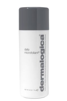 A Cleansing Powder Most scrubs are too harsh to use regularly, especially if you have sensitive skin. But, when we approach our 30s and beyond, daily exfoliation can help boost the active ingredients in our favorite anti-agers, including vitamins A and C. Dermalogica's Microfoliant is a total cult classic, renowned for its super gentle grit, which releases a little acne-clearing salicylic acid once wet.