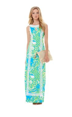 Forsyth Maxi Shift Dress -- I'm obessed with this maxi & this print! I need it! $298