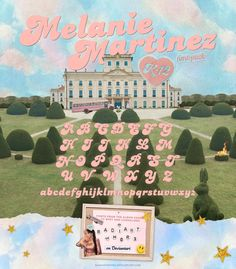 Melanie Martinez Font Pack by Mel Martinez, Crybaby Melanie Martinez, Aesthetic Fonts, Kali Uchis, Font Packs, 8bit Art, Retro Font, Cry Baby, Wall Collage