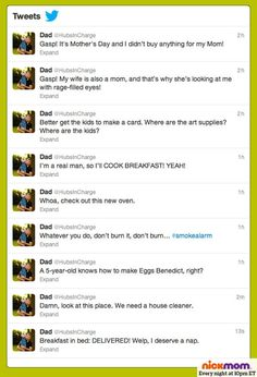 Our husbands live-tweet Mother's Day, and the results are just as you'd expect.