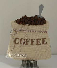 coffee card - uses the Cricut Love You A Latte cartridge!
