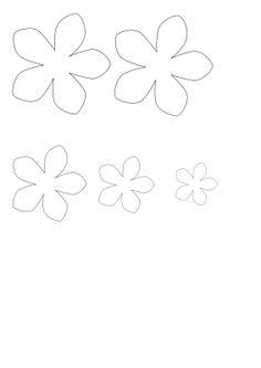 6 petal flower template stencils pinterest flower template