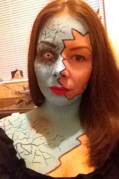 Half and half halloween makeup