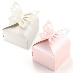 50 x Gastgeschenk Schachtel Geschenkbox Hochzeit/Fest Schmetterling