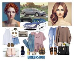 """Looks like another casual Spring and Summer for this radiant redhead❤️☀️🌼🌷🌻💄💋💅🏼👣❤️"" by chrisiggy on Polyvore featuring Deborah Lippmann, Avon and Birkenstock"