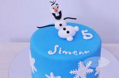 Tarta @Olaf, el muñeco de nieve de la película de #Disney #Frozen
