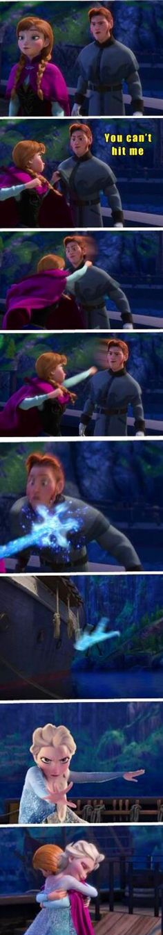 What happens if Anna didn't punch Hans