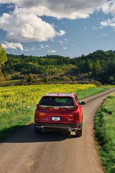 It's time to see the spring. #HondaCRV Honda Jazz, Roof Rails, Honda Crv, Cr V, Black Side, Rear Seat, Touring, Country Roads, Exterior