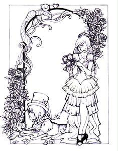 Wonderland Wedding Lineart by ~Spiderweaver on deviantART