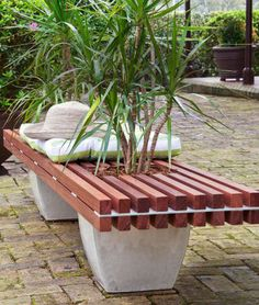 Build your own stylish, contemporary hardwood bench and watch it grow on you.