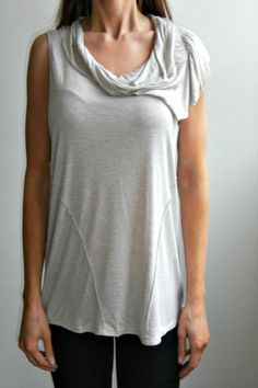 Savvy Scavengers Beige Side-Collared Top