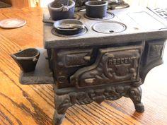 Vintage Crescent Cast Iron toy stove