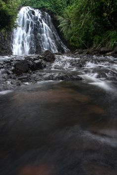 Kepirohi Waterfall, Pohnpei, Federated States of Micronesia (FSM) <<< Kitti 😏 People Around The World, Around The Worlds, Federated States Of Micronesia, Island Nations, Pacific Ocean, Countries, Waterfall, United States, Adventure
