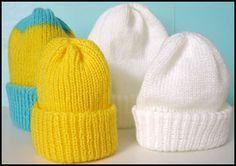 preemie & newborn hats-to be made on knitting machine