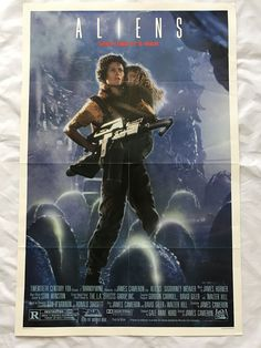 """ALIENS"" 1986 ORIGINAL MOVIE POSTER FIRST ISSUE 27X41 WEAVER BIEHN"
