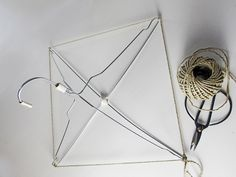 lampshade made from a wire hangers...or a food cover to keep bugs off food outside