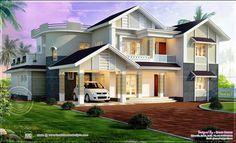 Beautiful Modern Kerala Home Exterior Design Ideas For The House