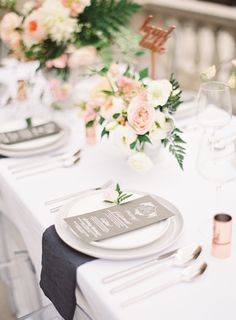 Blush Pink Spring Garden Wedding Inspiration